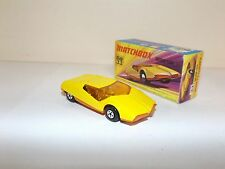MATCHBOX SUPERFAST NO.33B DATSUN 126X YELLOW BODY, ORANGE RIBBED BASE MIB