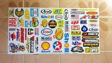 3 SHEETS MIX RACING DECAL STICKERS VINYL  AUTOMOTIVE TOOL BOX HOT SIGN NEW