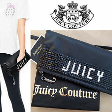New Juicy Couture Palm Chic Leather Foldover Clutch Purse with Dust Bag $228
