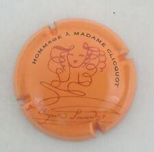 capsule champagne CLICQUOT hommage n°137 orange rouge et noir