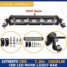 """7""""in 18W CREE LED Single Row Work Light Bar Spot OFFROAD DRIVING LAMP PICKUP"""