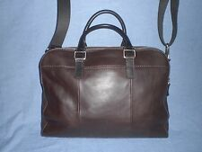 Fossil Leather MERCER DOUBLE TOP ZIP  WORKBAG  $268~