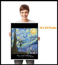 GUS FINK outsider Art BOZ nightmare STARRY NIGHT JACK SKELLINGTON POSTER