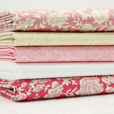 FQ Bundle - Sumner Place - Vintage Pink x 5 - Fat Quarter - Cotton Fabric Patchw