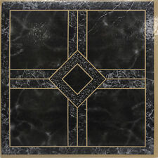 Black Marble Vinyl Floor Tiles 20 Pcs Self Adhesive Flooring -Actual 12'' x 12''