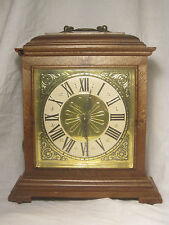 * damaged vintage Spartus clock U.S.A. Roman Numeral electric mantle time piece