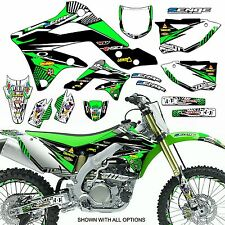 2003 2004 2005 2006 2007 2008 KX 125 250 GRAPHICS KIT KAWASAKI KX250 DECO DECALS