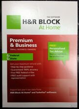 H&R Block At Home Premium & Business 2012+State+Federal+e-file Tax Preparation