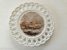 """Currier & Ives American Farm Scenes - Winter, 9-5/8"""" Collectible Plate"""