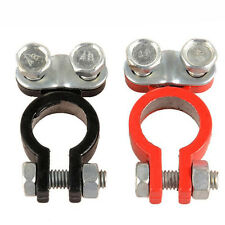 2x Universal Positive Negative Car Battery Terminals Clamp Clip Connector 12V 6V