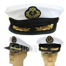 Adult Yacht Boat Captain Ship Sailor Hat Navy Cap Costume Party Cosplay Dress