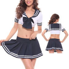 Sexy Japanese School Girl Student Sailor Uniform Costume Cosplay Lingerie Dress