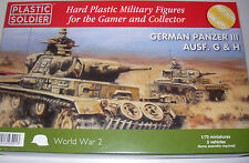 WW2V20010 PLASTIC SOLDIER COMPANY 1:72 - GERMAN PANZER III AUSF. G AND H