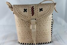 """Gorgeous Classic Handmade Camel Leather Shoulder Handbags 21 FREE  POSTAGE 7""""x7"""""""