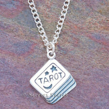 925 sterling silver TAROT CARD DECK charm Witch Wiccan Pagan Pendant Necklace
