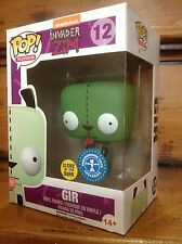 FUNKO POP! Invader Zim GIR Glow In The Dark GITD #12 Exclusive Vinyl Figure NEW