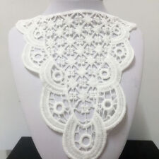 New Lace Embroidered Floral Neckline Neck Collar Trim Clothes Sewing Applique 55