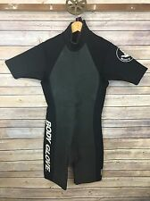 Wet Suit Men's Body Glove Medium Short Black Gray Diving Surfing Vintage 32mm