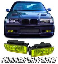 YELLOW FOG LIGHTS FOR BMW E36 90-99 M3 CUOPE' CABRIO NEW FANALE FENDINEBBIA H8