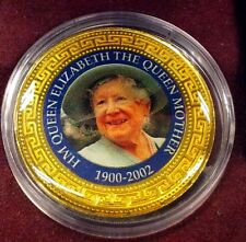"Trade Dollar • Queen Mother 1900-2002 • Gold Plated ""Coin"""