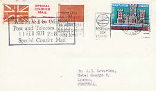 1971 STRIKE MAIL SPECIAL COURIER MAIL COVER UK TO PORTUGAL (a)