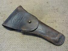 Vintage US Leather & Brass Gun Holster    Antique Pistol Guns Rifle Hunting 7756