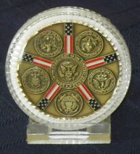 Mint Condition President Barack Obama Bronze Medallion w/ All Military Branches