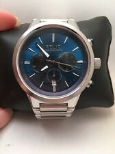 Relic By Fossil Mens Wrigley Blue Dial Chronograph Watch ZR66066 -H83