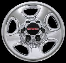 "Set of 4 GMC 6 Lug 16"" Chrome Wheel Skins Rim Simulators Hub Caps Full Covers"