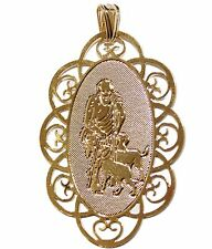 San Lazaro-Medal-18K Gold Plated Medalla Pendant with Chain - Babalu Aye Medal