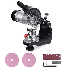 """Electric Chainsaw Sharpener & Grinder w/ Grinding Wheels 1/8"""" & 3/16"""" New"""