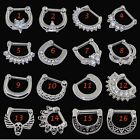 1 Piece or 1 Pair Septum Clicker/Ear Gauge Jewelry 316L Steel-Choose Your Style