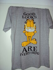 T-Shirt GARFIELD PAWS Good Looks are Everything Lizenz Shirt Original Grau Odie,