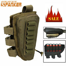 1000D Rifle Ammo Stock Shell Pouch Tactical Bag W/ Cheek Pad Coyote Brown