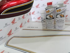 Honda CB 550 Four Color Paint Kit Candy Antares Red + Decal Stripes Fuel Tank