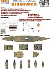 Hunter 1/350 W35008 Wood deck German Bismarck for Tamiya