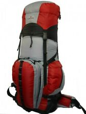 Expandable 130L Deluxe Red Hiking Backpack Sport Camping Removable Waist Pack