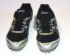 Asics Hyper MD 4 Spiked Running Shoes, Mesh/Synthetic Upper, Black, 9, New