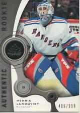 2005-06 SP GAME USED - HENRIK LUNDQVIST ROOKIE CARD! 406/999