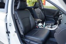 HONDA ACCORD 2013-2016 BLACK S.LEATHER CUSTOM MADE FIT FRONT SEAT COVER