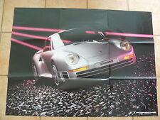 Porsche 959 + Modellprogramm - POSTER - Prospekt Brochure 08.1985 - Großformat!