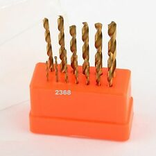 13Pcs 1.5-6.5mm  Hss High Speed Steel Titanium Coated Drill Bit Set Shank