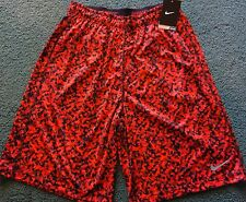 NWT Mens Nike L Red/Burgundy/Black Camouflage Dri-Fit Stay Cool Shorts Large