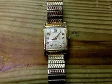Mens VTG HAMILTON BOYD 14K GOLD FILLED 17 Jewel Adjusted 747 Watch 10K GF BAND