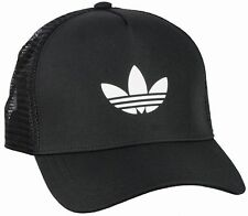 ADIDAS TREFOIL TRUCKER CAP Black-White snapback logo hip hop hat NEW