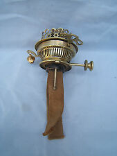 Hink No2 lever oil lamp twin burner key rising + snuffer great condition Hinks 5