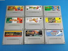 #348 PRIME GOAL ECCITE STAGE SOCCER SET Lot of 9 SUPER FAMICOM  Japanese Used