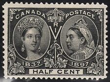 Canada 1/2c QV Diamond Jubilee, Scott 50, F-VF MHR, catalogue - $105
