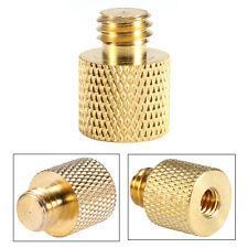 """1/4"""" Female to 3/8"""" Male Tripod Thread Adapter Brass Copper For Camera Tripod"""