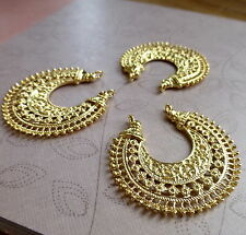 8 pcs - Gold colour Chandelier Earring Component, connector, pendant, filigree